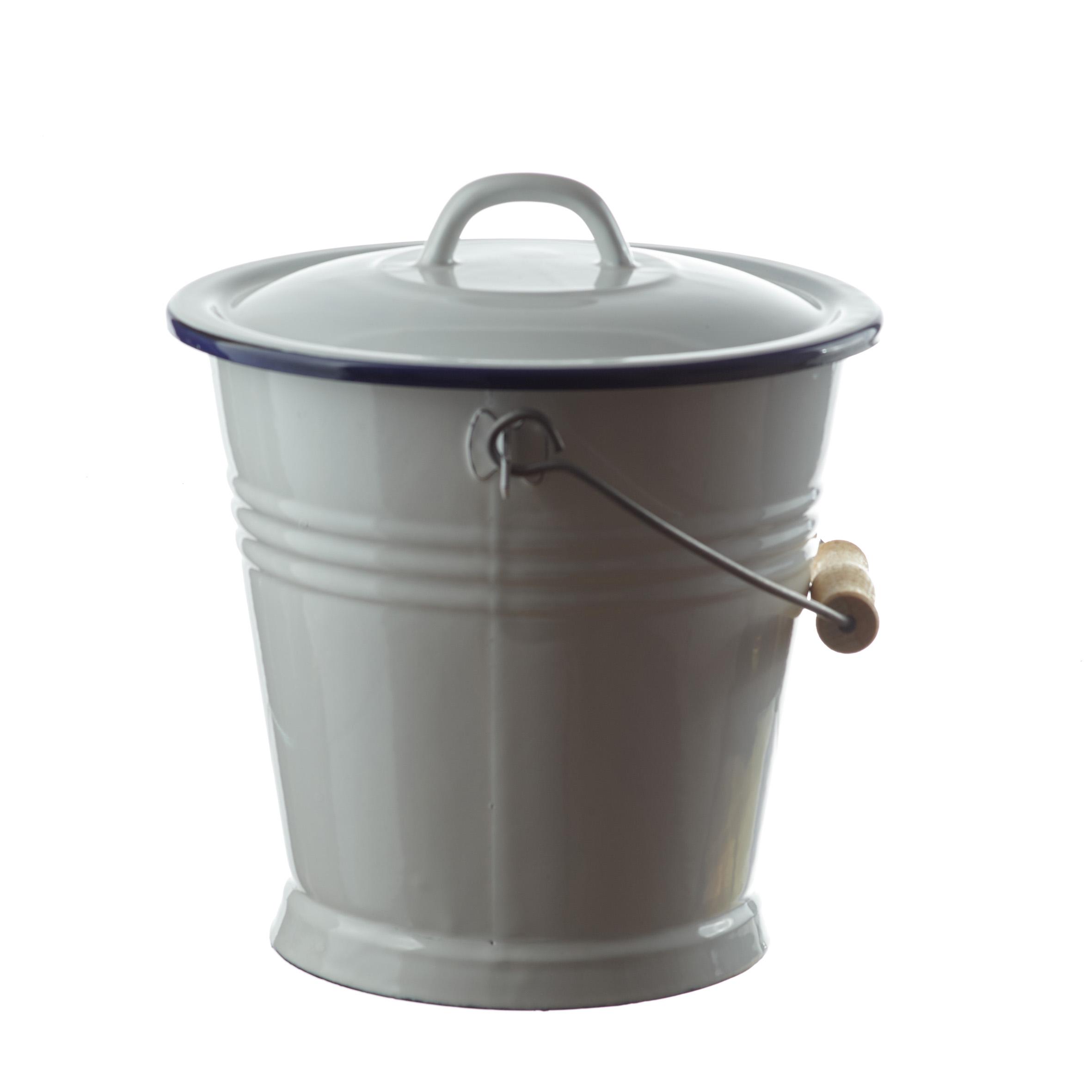 Eimer mit deckel kunststoffeimer 21 0 liter rund schwarz for Eimer mit deckel 10l